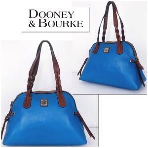 Dooney & Bourke Cobalt Blue Pebble Leather Satchel